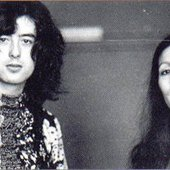 Julie Felix with Jimmy Page
