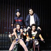 Anamanaguchi on bikes