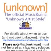 [unknown]: Official MusicBrainz Unknown Artist Style