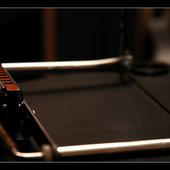 live at Phoenix blues harp on a speaker box / photo taken by Dorel Rosu