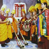 Eight Lamas From Drepung