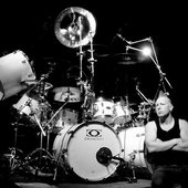 Mike and his drum kit