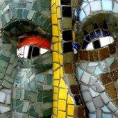 Shaman Headinvader mosaic heads