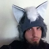 Wolfgun with wolf hat