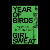 Cover art for Girl Sweat and Year of Birds split tape