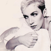 Annie Lennox from Eurythmics. Photo's author not found.