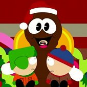 Mr. Hankey with Stan, Kyle and Cartman