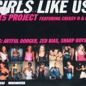 B-15 PROJECT Feat.CRISSY D & LADY G - Girls like us - single cover