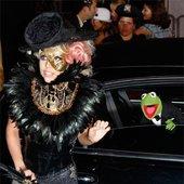 GaGa and kermit