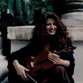 Scarlet Rivera with violin