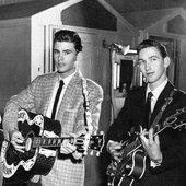 Ricky with bandmember James Burton