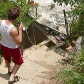 Jason Hall walking in Colombia