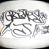 Grimey J handstyle by Keso