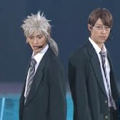 Nakagauchi Masataka as Niou Masaharu and Baba Tooru as Yagyuu Hiroshi