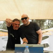 Goasia and Filteria on stage in Israel
