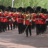 Welsh guards band on the Mall
