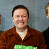 Ricky Gervais, Steven Merchant and Karl Pilkington