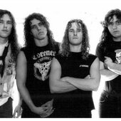 SH - From left to right: James Murphy, Chuck Schuldiner, Bill Andrews, Terry Butler