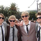 The DFenders (From left:  Adon Moskal, Matt Taine, Luke Herlihy and Little Mikey Carter)