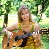 GuitarLady in Alexandroff garden. фотосессия Юлии Строковой 2011 июль
