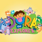 Dora the Explorer logo and cast