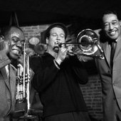 Louis Armstrong & Duke Ellington & Paul Newman