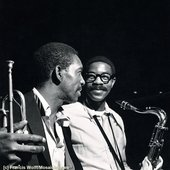 Kenny Dorham and Joe Henderson captured by Francis Wolff. Dorham was born today in 1924.