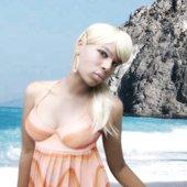 Ashley takes to the beach, 2007.