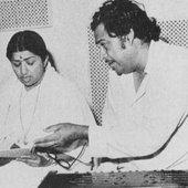 Kishore Kumar with Lata Mangeshkar