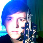 Posing with guitar