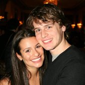Jonathan Groff and Lea Michele