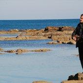 Suonando in riva al mare...