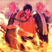 Luffy (Mayumi Tanaka), Zoro (Kazuya Nakai), Sanji (Hiroaki Hirata)