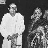 Semmangudi Srinivasa Iyer with M. S. Subbulakshmi