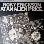 ROKY ERICKSON AT AN ALIEN PRICE. Only £3.99