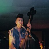 Early 90's Nekroman, 2nd Generation Coffin Bass