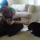 writing with Ruido the Cat
