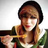 cute alexa eating soup