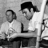Leonardo Fabio y Juan Perón