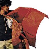 Caetano Veloso veste um parangolé do artista plástico Hélio Oiticica.