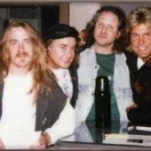 Blue System studio members: Detlef Wiedeke, Michael Scholz, Rolf Koehler & Dieter Bohlen.