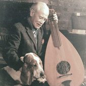 John Jacob Niles & a dog