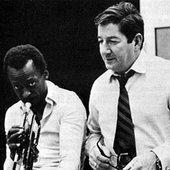 Miles Davis & Teo Macero, 1969.