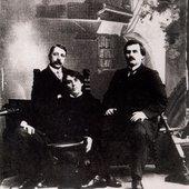 Mikhail Matiushin, Alexei Kruchenykh & Kazimir Malevich
