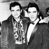 Johnny Cash with Elvis Presley