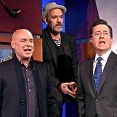 Brian Eno, Michael Stipe & Stephen Colbert