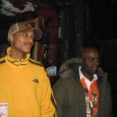 DJ Tone B. Nimble (left) MC capital D (right)