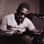 John Coltrane during Paul Chambers' Whims of Chambers session, Hackensack NJ, September 21 1956 (photo by Francis Wolff)