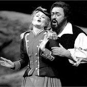 June Anderson, Luciano Pavarotti