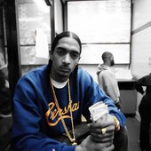 Nipsey Hussle at the video shoot